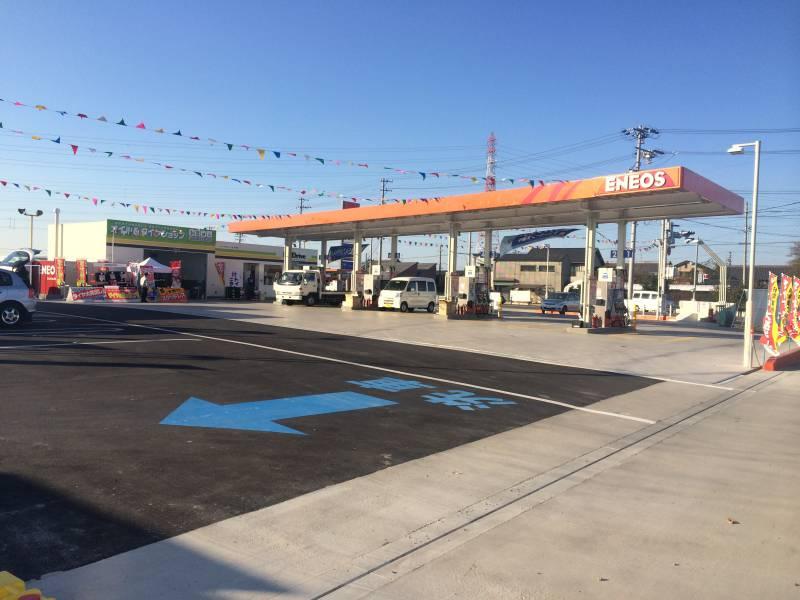 都市型側溝/ガソリンスタンド